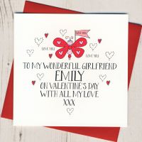 <!-- 010 -->Personalised Wobbly Eyes Girlfriend Valentines Card
