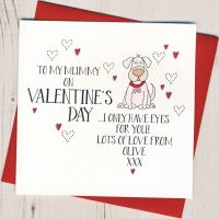 <!-- 024 -->Personalised Valentines Card From The Dog or Dogs