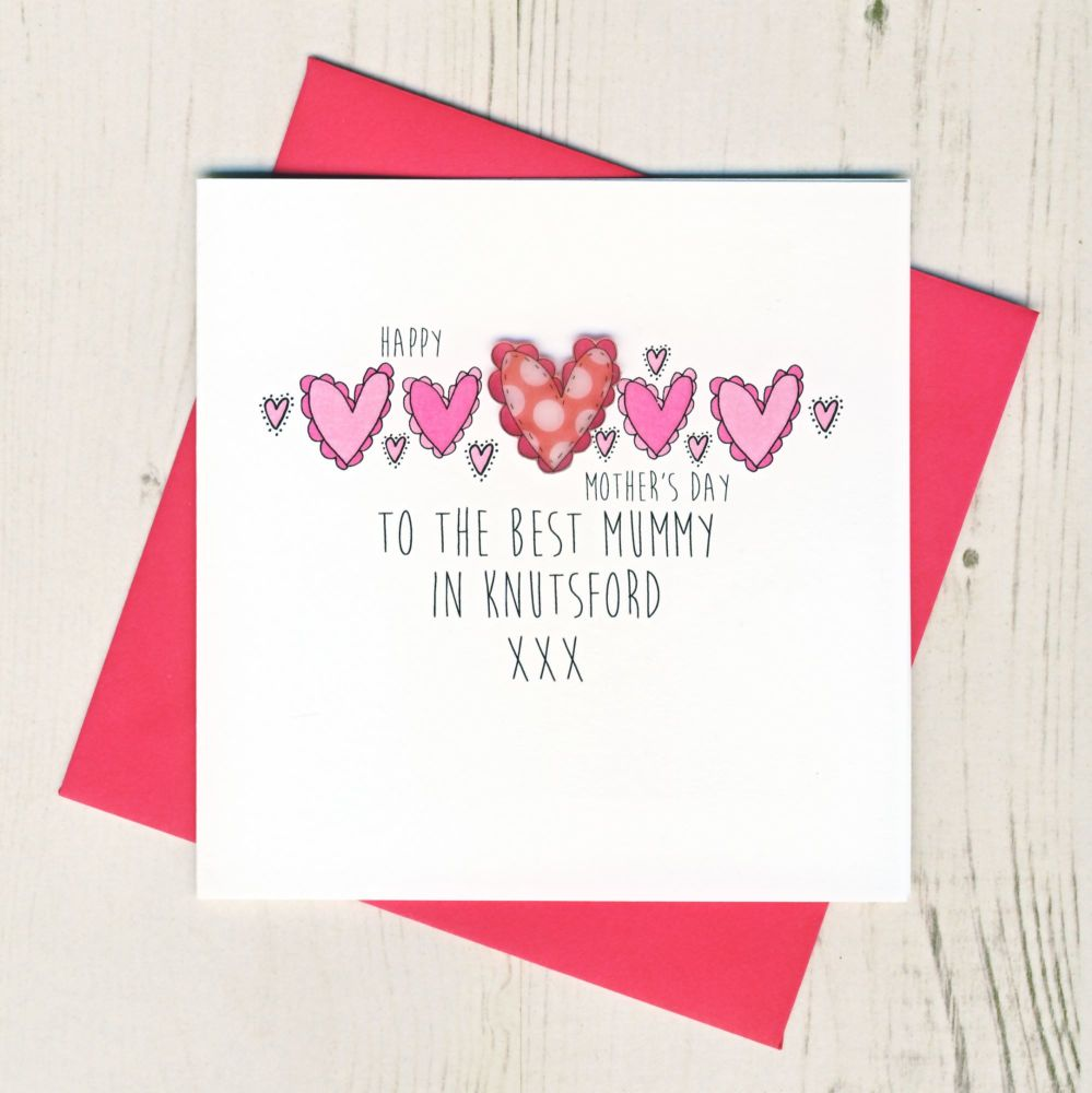 Personalised Best Mummy In... Mother's Day Card