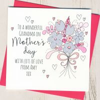 <!-- 028 -->Personalised Glittery Grandma Mother's Day Card