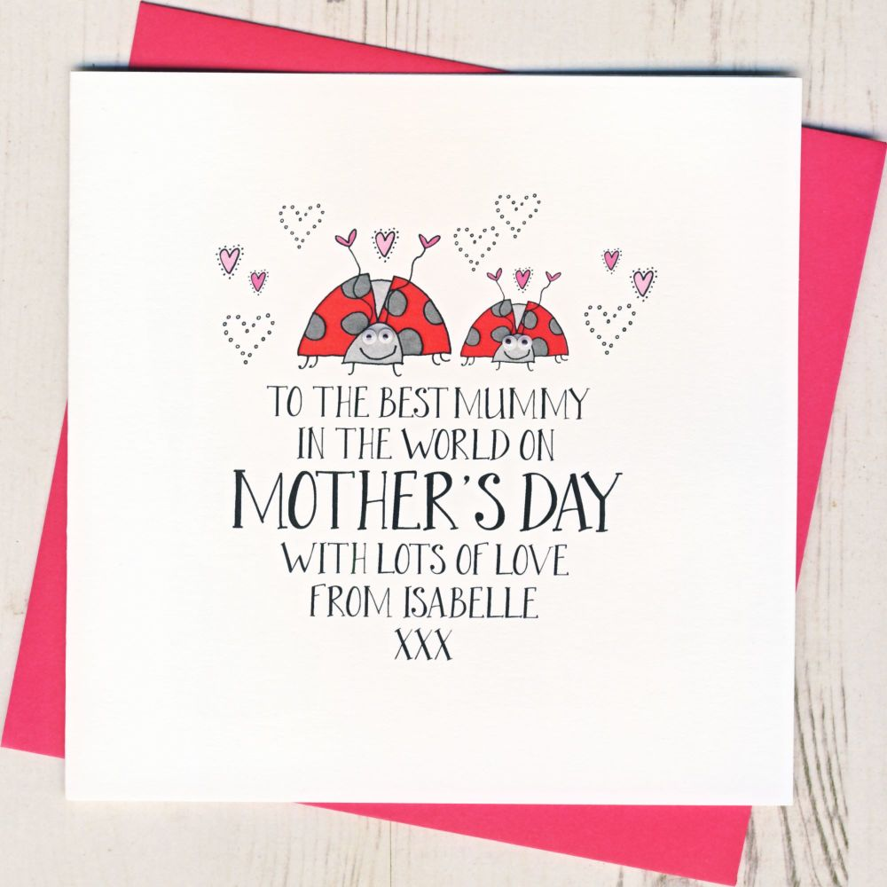 Personalised 'Mum & Best Friend' Mother's Day Card