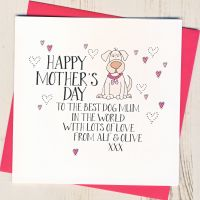 <!-- 023 -->Personalised Wobbly Eyes Mother's Day Card From The Dog