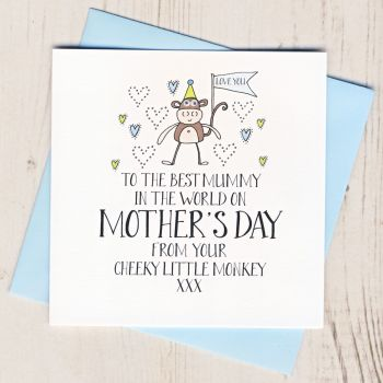 Little Monkey Mother's Day Card