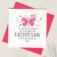 <!-- 003 -->Butterfly Mother's Day Card