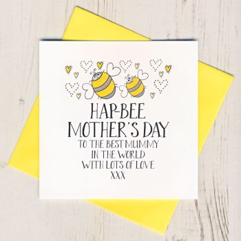 Hap-Bee Mother's Day Card