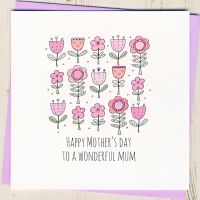 <!-- 004 -->Wonderful Mum Mother's Day Card