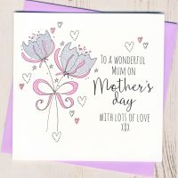 <!-- 006 -->Glittery Flowers Mother's Day Card