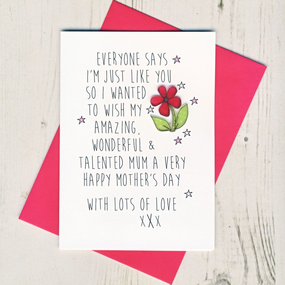 <!-- 017 -->Favourite Child Mother's Day Card