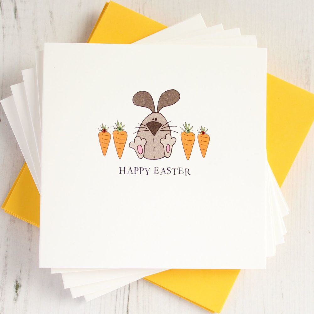 Pack of Five Easter Bunny Cards