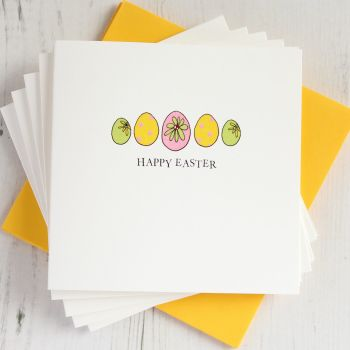 Pack of Five Easter Eggs Cards