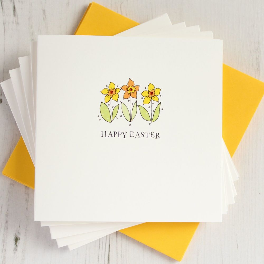 Pack of Five Easter Daffodils Cards