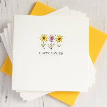 Pack of Five Easter Daisies Cards