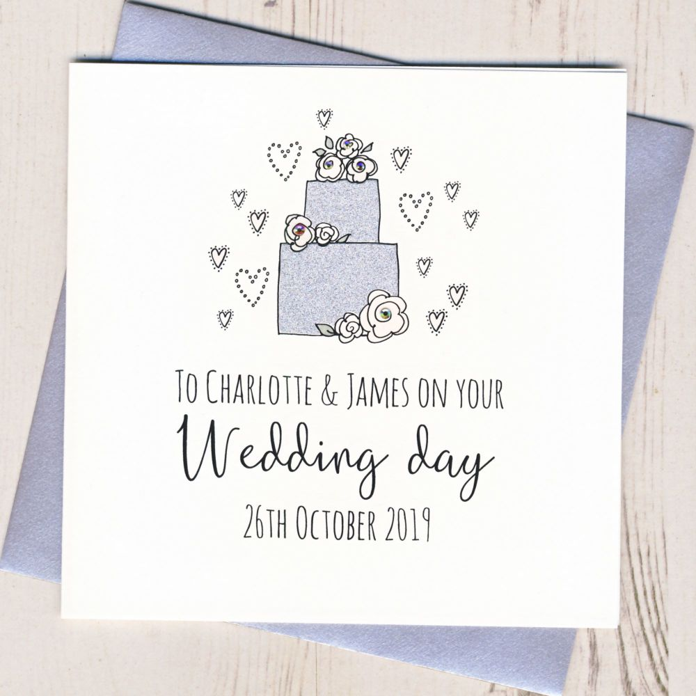 Personalised Wedding Cake Card