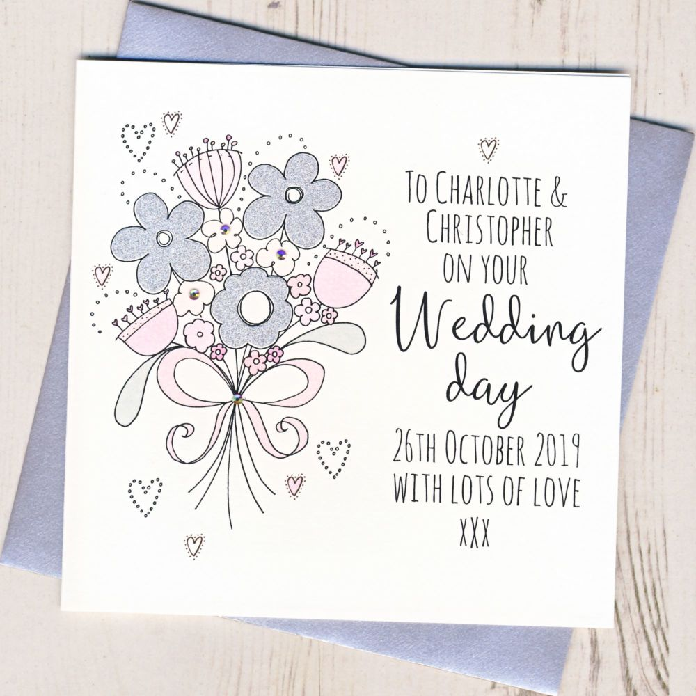 <!-- 003 -->Personalised Wedding Flowers Card