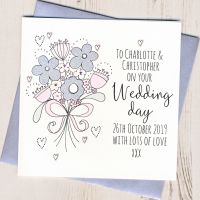 <!-- 014 -->Personalised Wedding Flowers Card