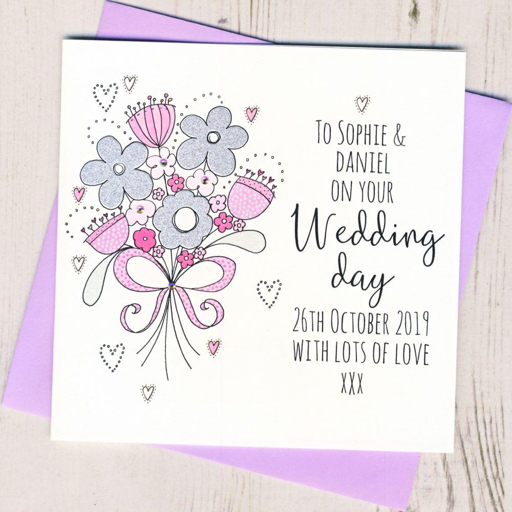 <!-- 003 -->Personalised Wedding Flowers Card