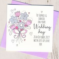 <!-- 015 -->Personalised Wedding Flowers Card