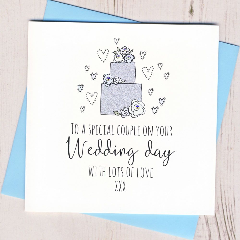 <!-- 001 -->Wedding Cake Card
