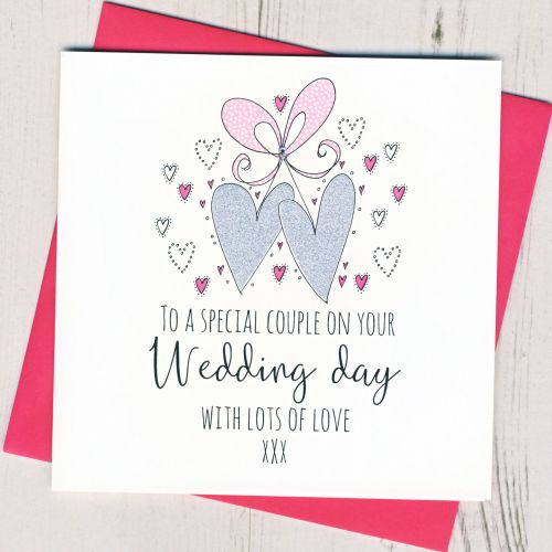 <!-- 001 -->Wedding Hearts Card