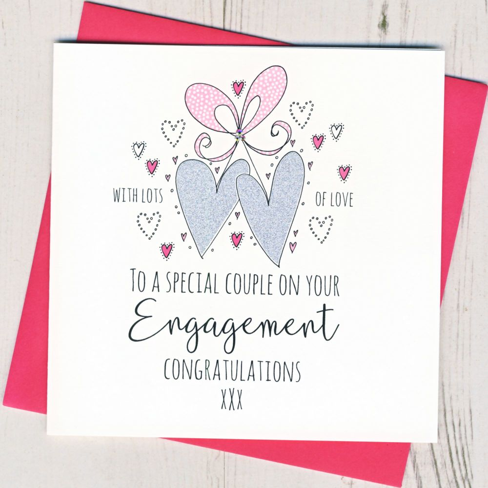 <!-- 001 -->Engagement Hearts Card