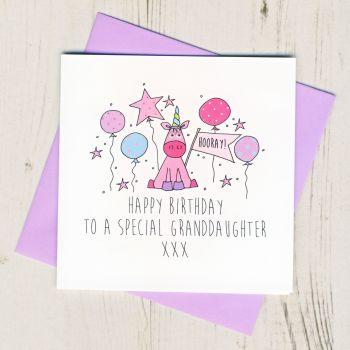 Happy Birthday Granddaughter Unicorn