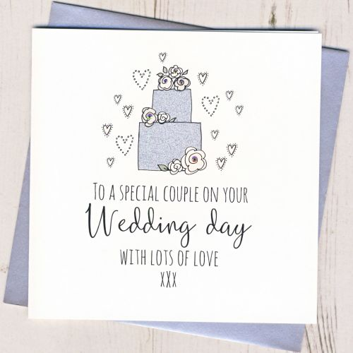 <!-- 001 -->Wedding Cake Card