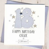 <!-- 002 -->Personalised 18th Birthday Card