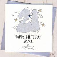 <!-- 003 -->Personalised 21st Birthday Card