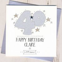 <!-- 002 -->Personalised 40th Birthday Card