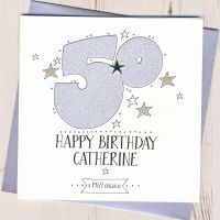 <!-- 002 -->Personalised 50th Birthday Card