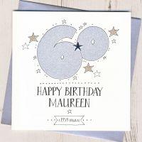 <!-- 003 -->Personalised 60th Birthday Card
