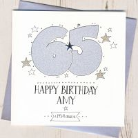 <!-- 002 -->Personalised 65th Birthday Card