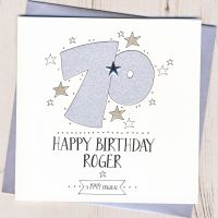 <!-- 002 -->Personalised 70th Birthday Card