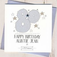 <!-- 003 -->Personalised 80th Birthday Card