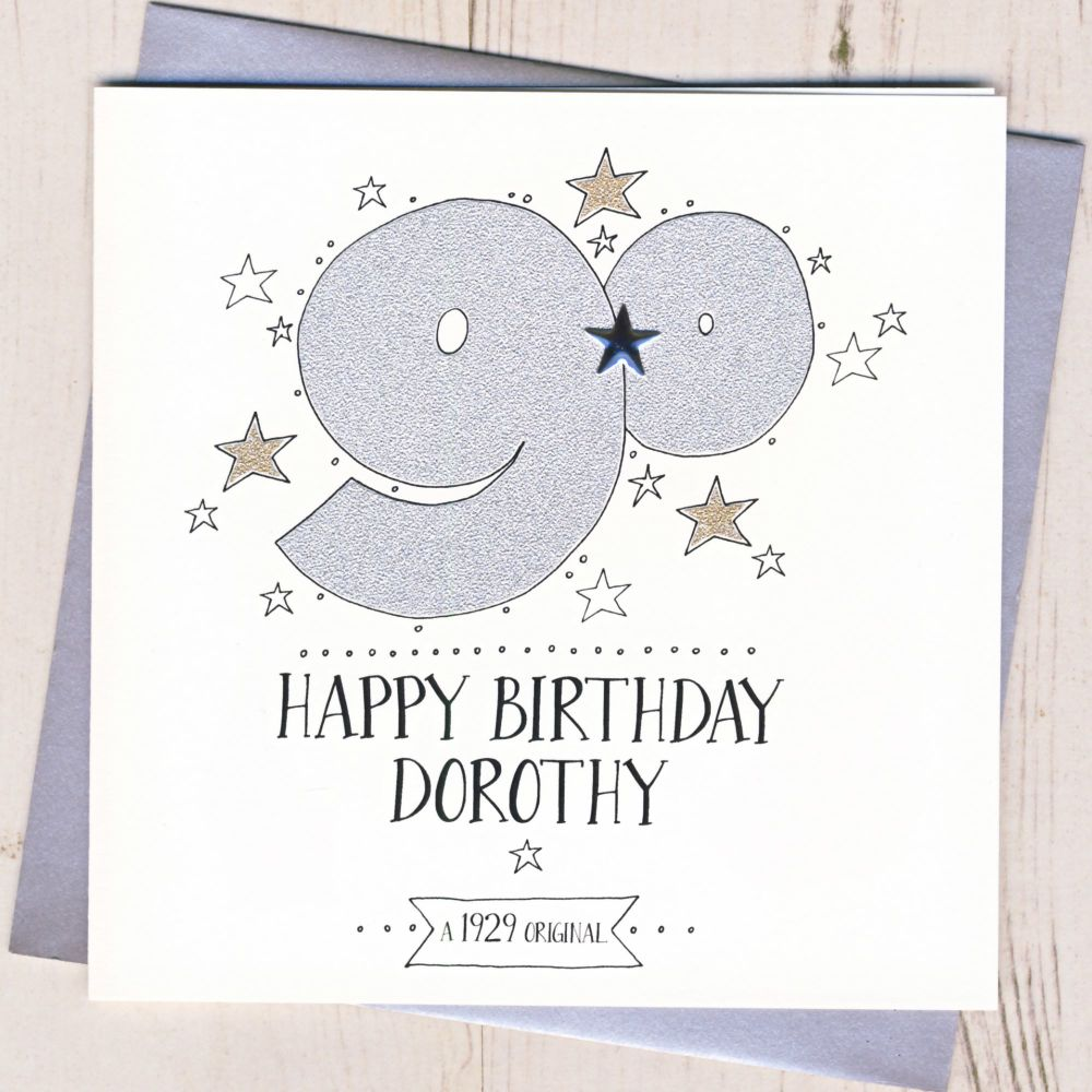 Personalised 90th Birthday Card