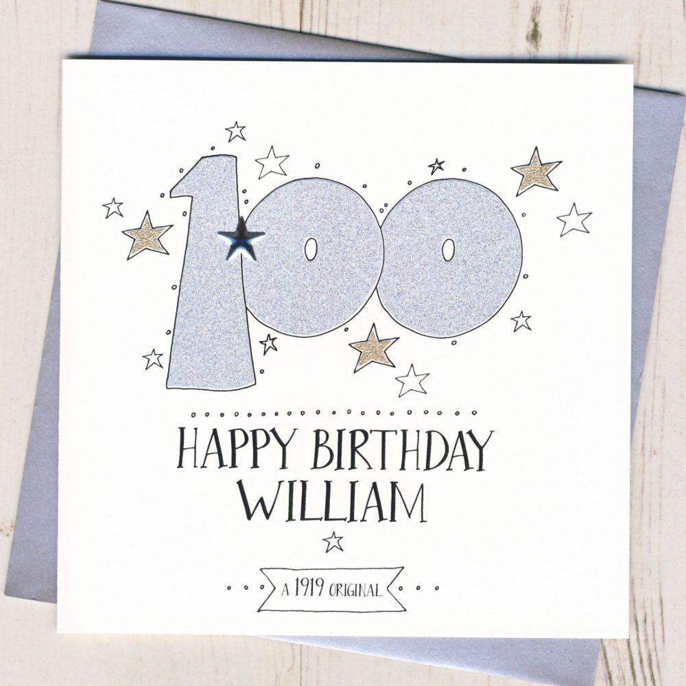 Personalised 100th Birthday Card