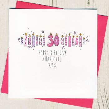 Personalised Pink Age Card