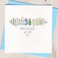 <!-- 001 -->Personalised Blue Age Card