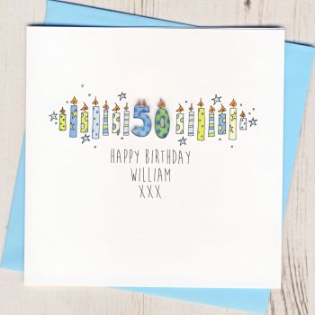 Personalised Blue Age Card