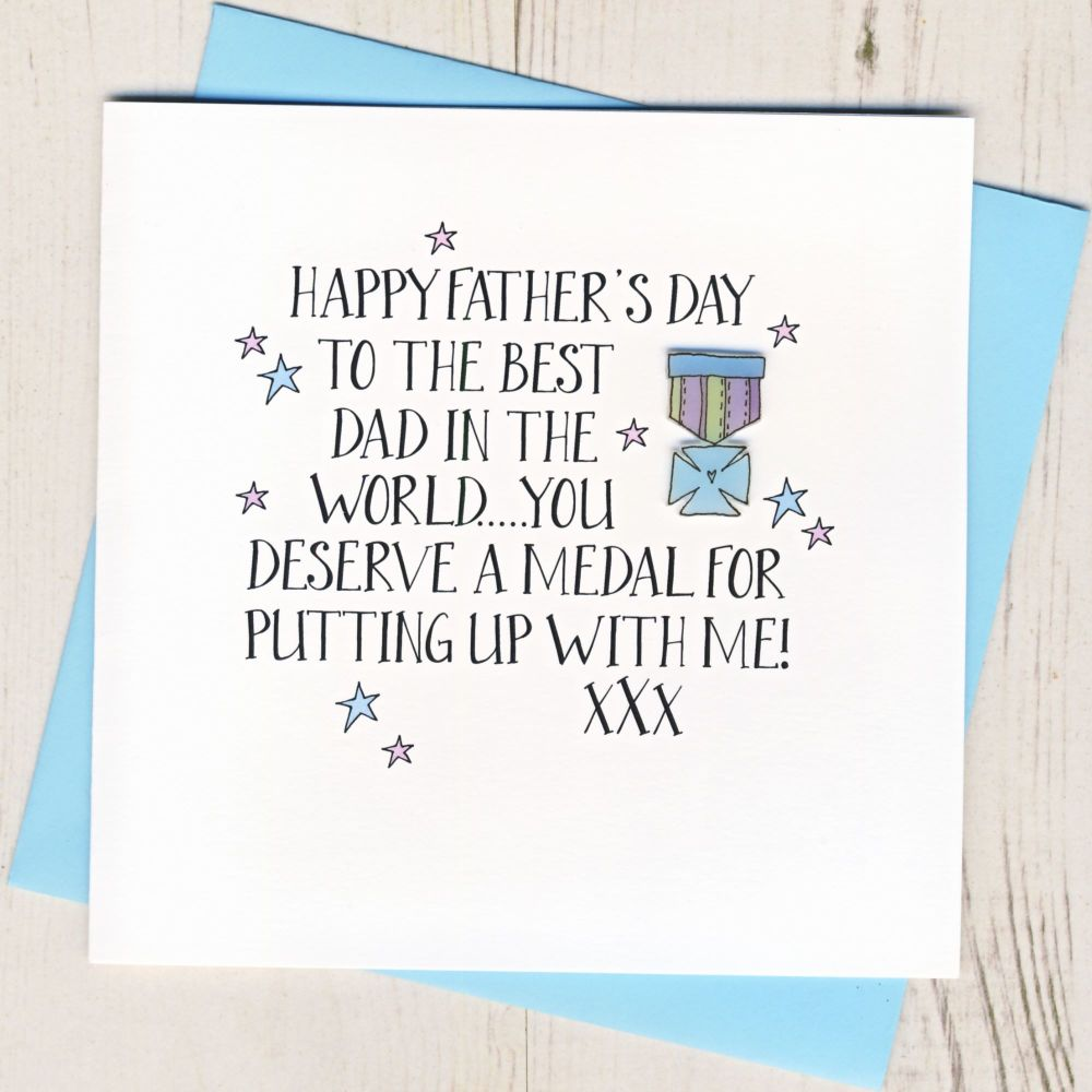 Happy Father's Day Medal