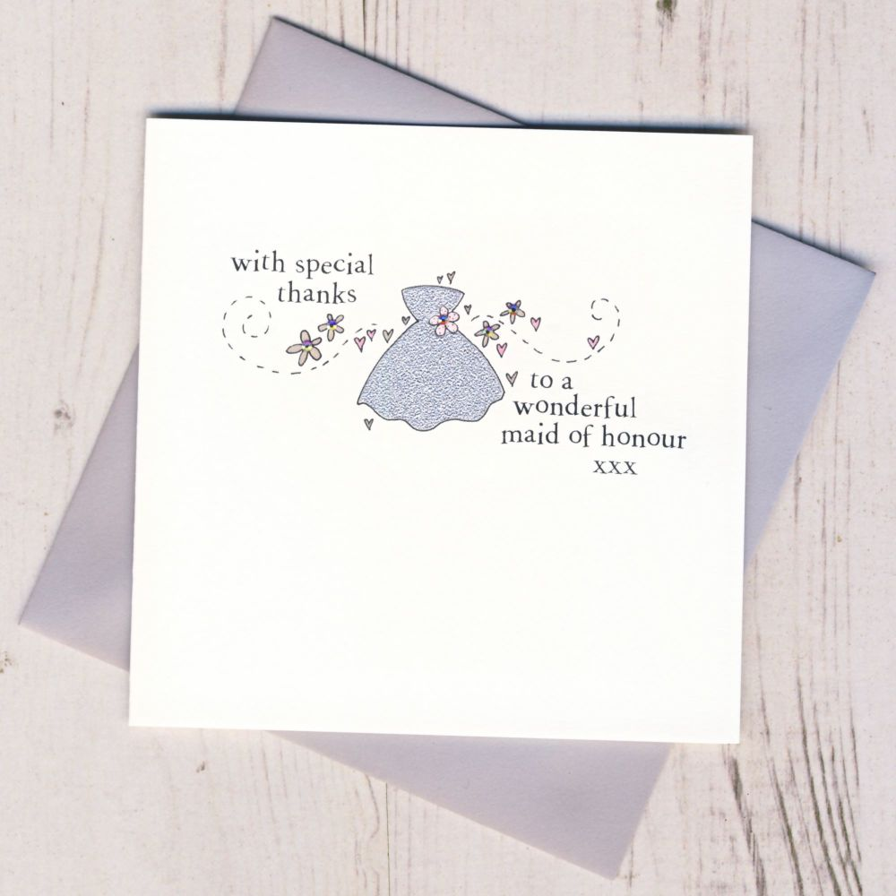 <!-- 011 -->Maid of Honour Thank You Card