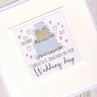 <!-- 002 -->Large Personalised Wedding Cake Card
