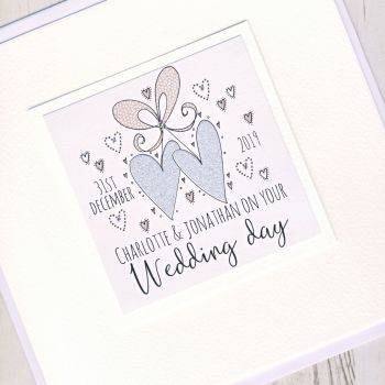 Large Personalised Wedding Card