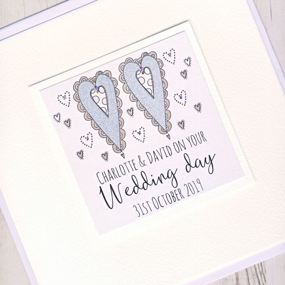 <!-- 005 -->Large Personalised Wedding Card
