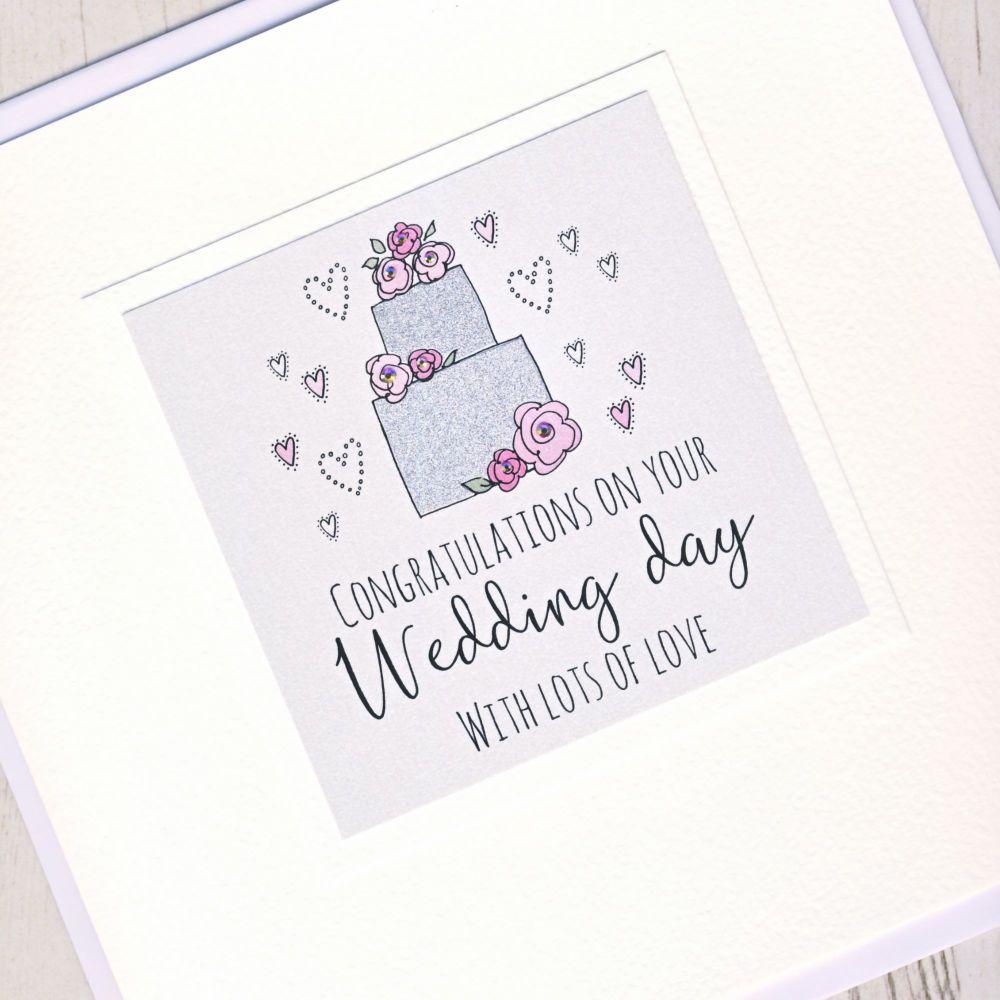 <!-- 001 -->Large Wedding Cake Card