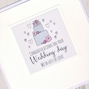 Large Wedding Cake Card