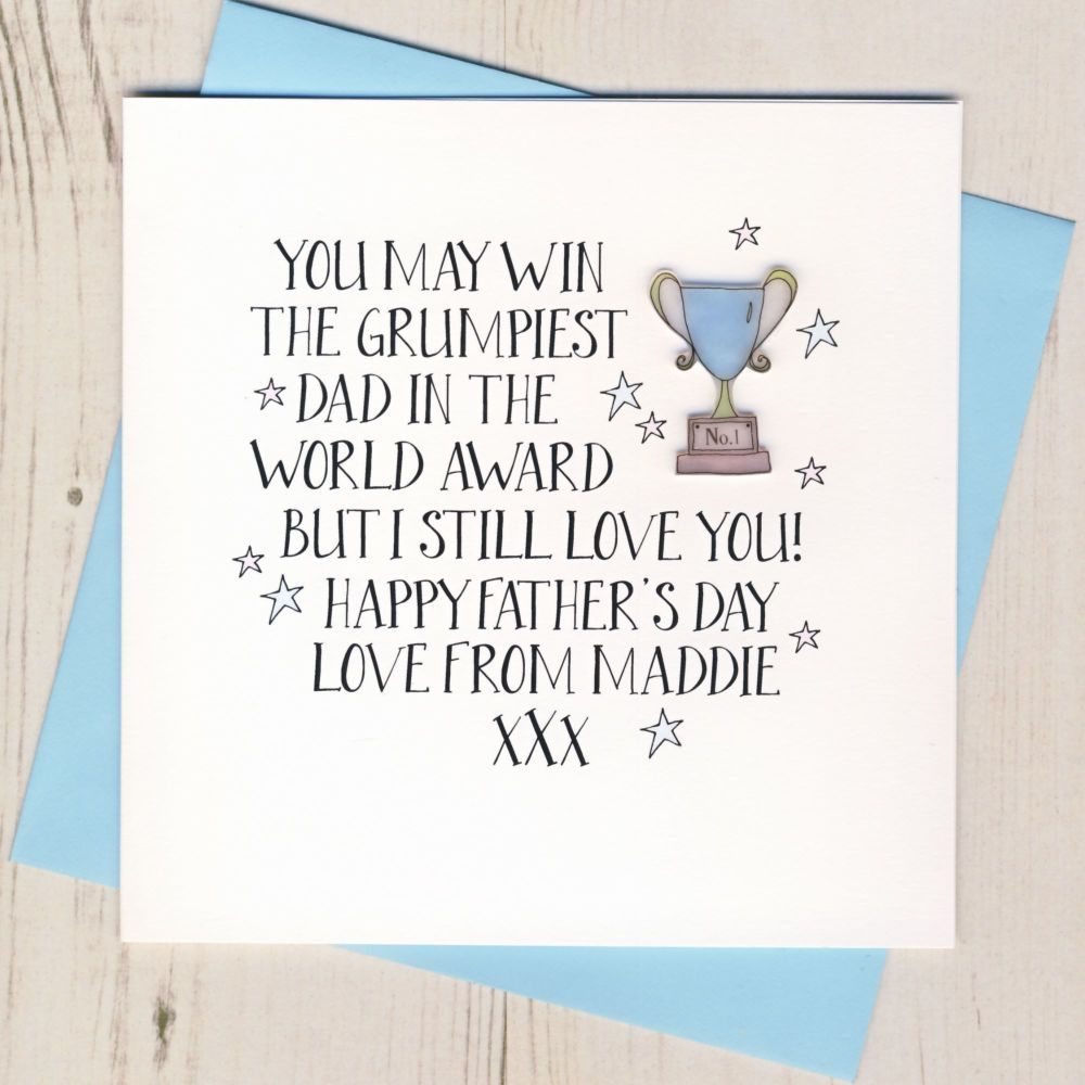 <!-- 015 -->Personalised Father's Day Trophy Card