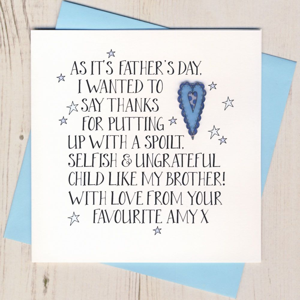 <!-- 016 -->Personalised Thanks Father's Day Card