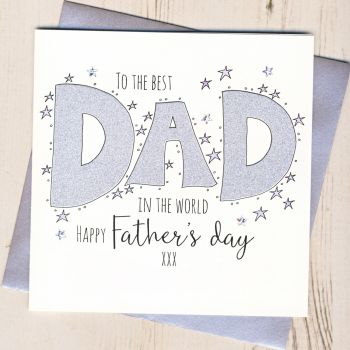 Glittery Dad Father's Day Card