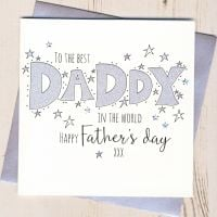 <!-- 001 -->Glittery Daddy Father's Day Card